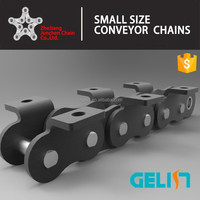 small A B serise short pitch carbon steel conveyor roller chain with K1 attchment Chinese factory