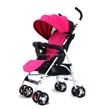 Hot promotion gift steel pipe foldable pink color pram tricycle china baby stroller manufacturer
