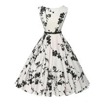 Walson Womens 50's Rockabilly Vintage Style Evening Party Tea Dresses Swing Skaters