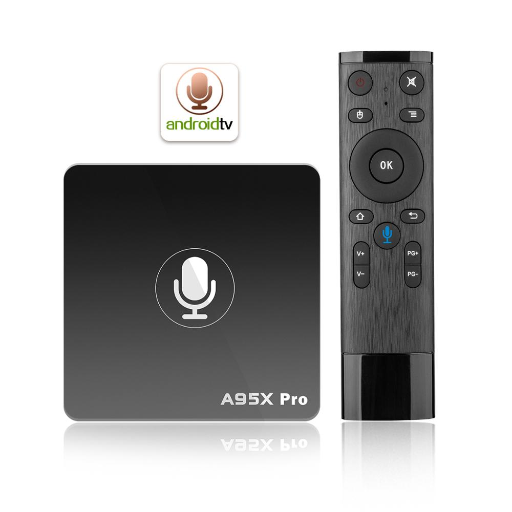 Asher Mini Android 8.1 Set Top Box 2gb 16gb Free Internet Tv Box Voice <strong>Control</strong> A95X Pro