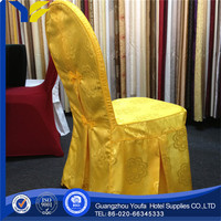 plain new style spandex/polyester bright red pleated chair cover with band sash buckle