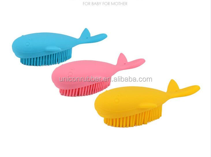 Soft Silicone Baby Bath Brush Baby Shower Massage Brush Silicone Bath Brush