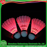 LED Flashing Nylon Badminton Shuttlecock For Training in Night