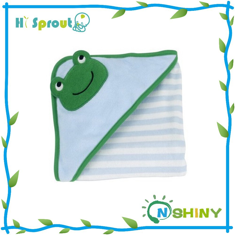 Hot Sale Stripe Frog Animal Baby Face Towel
