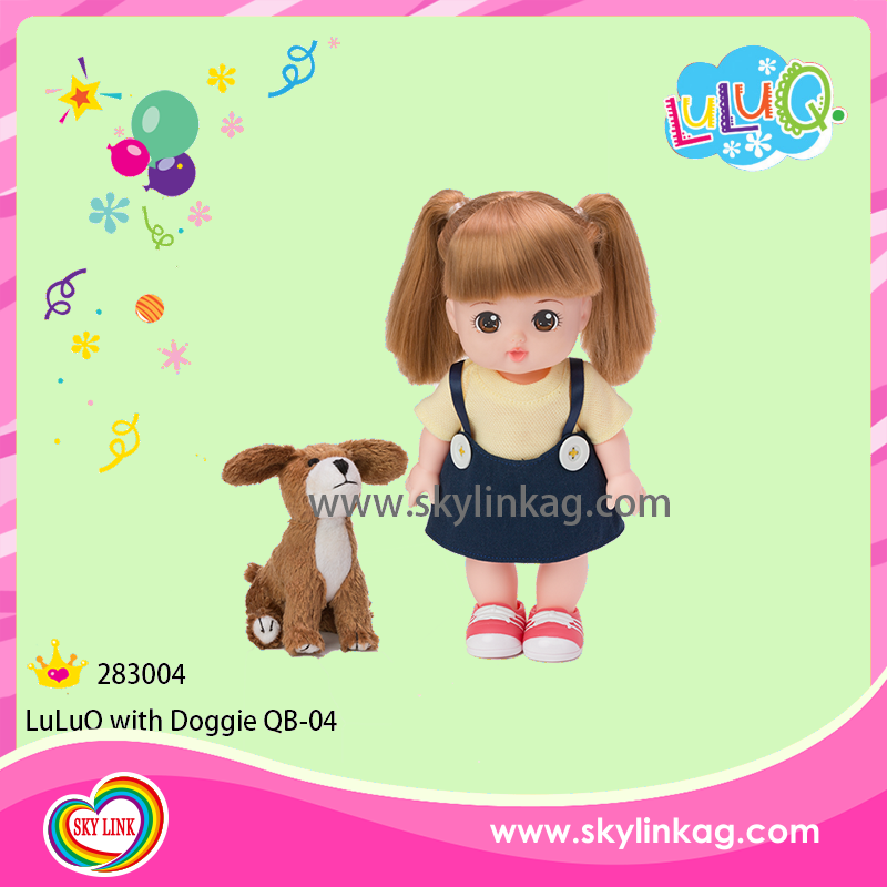 OEM Pretty kids doll with little doggie