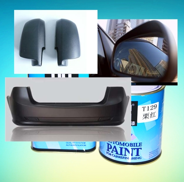 Egg shell matt black car paint