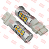 9-32V SMD 5630 WHITE/AMBER DUAL COLOR P27/7W LED LIGHT,T25 BULB LED CAR,3157 LED BRAKE LAMP