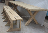 Antique style solid reclaimed wood dining table, dinning room furniture