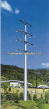 steel Hot dip galvanized power transmission pole