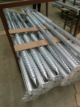 heavy galvanized steel ground screw for solar mounting earth screw pile & ground screws for fence post