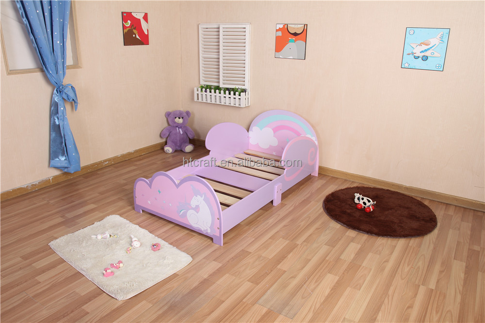 wooden child toddler wooden bed (140x70cm mattress) Hot sell