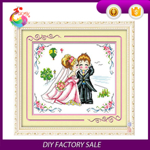 cross stitch kit,wedding Dome cross stitch, DIY embroidery kit to you