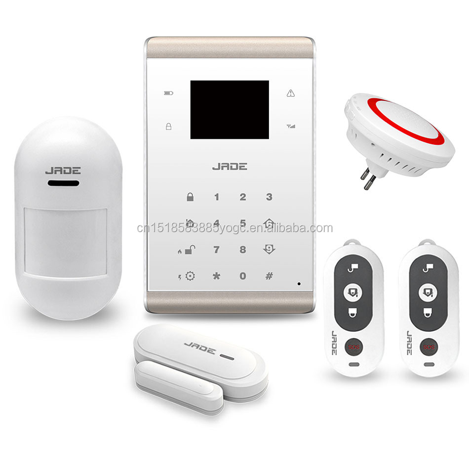 Long range wireless gsm home alarm system with 433MHz/ 868MHz for house protect