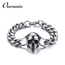 New Fashion Custom Men Jewelry 316L Stainless Steel Viking Bracelet with Skull