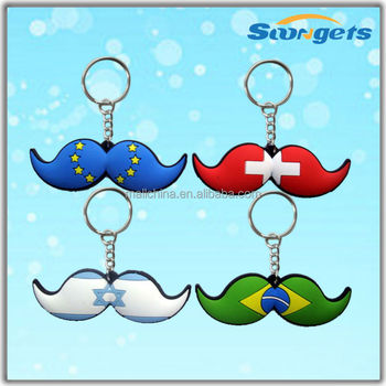 JHGY10410 China Supplier Custom Moustache Keychain