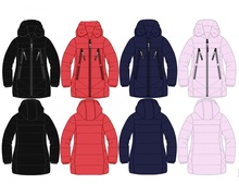 children long kid's girls thick warm padded jacket