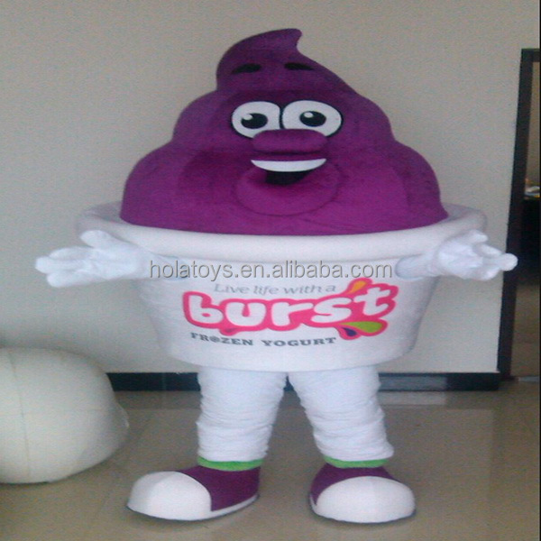 Big ice cream mascot costume for sale/yogurt costume/mascot costume