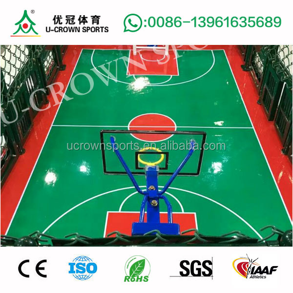 Silicone Polyurethane Court Surface Paint for indoor and outdoor basketball/ volleyball/badminton/ tennis