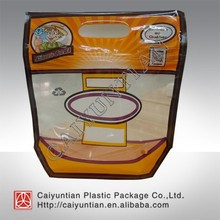 fresh fruit packaging bag with holes/OPP/CPP transparent standing fresh fruit bag with holes