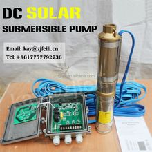 "1"" dc solar pump with controller guangzhou solar pumps exported to 58 countries 5hp solar submersible pumps"