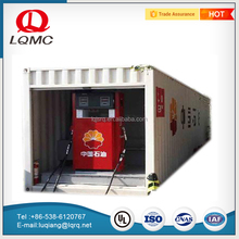 Moveable double oil types fuel pump equipment container gas station