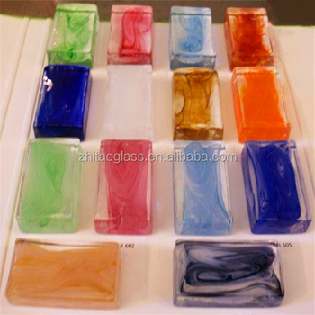 Colored solid glass block bricks prices