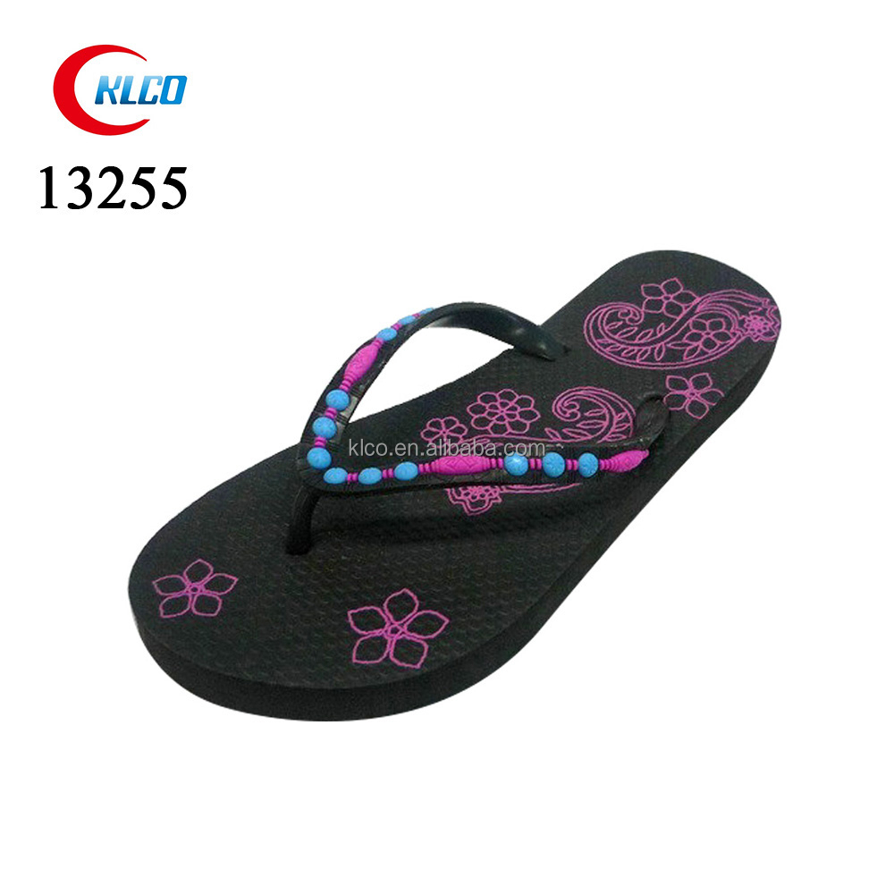 Ladies pead custom printed eva flip flops slipper