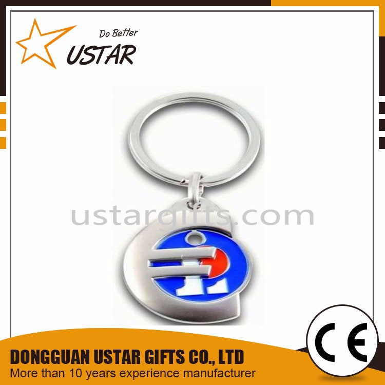 Factory directly high quality canadian shopping cart coin key chain