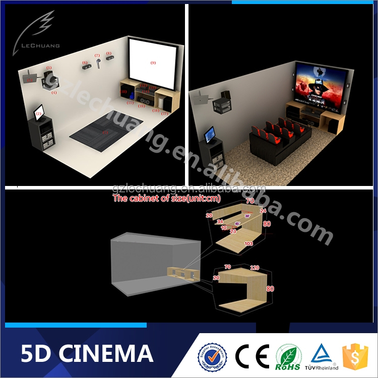 3D 4D 5D Cinema Seating System Projector