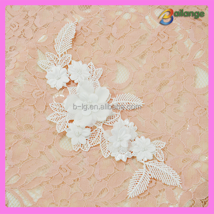 2016 wholesale new high quality lace applique wedding dress accessory lace motif