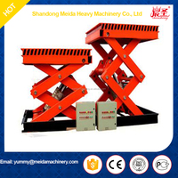6 meters 450kg scissor type elevating mobile lift platform, stationary scissor hydraulic lifting platform