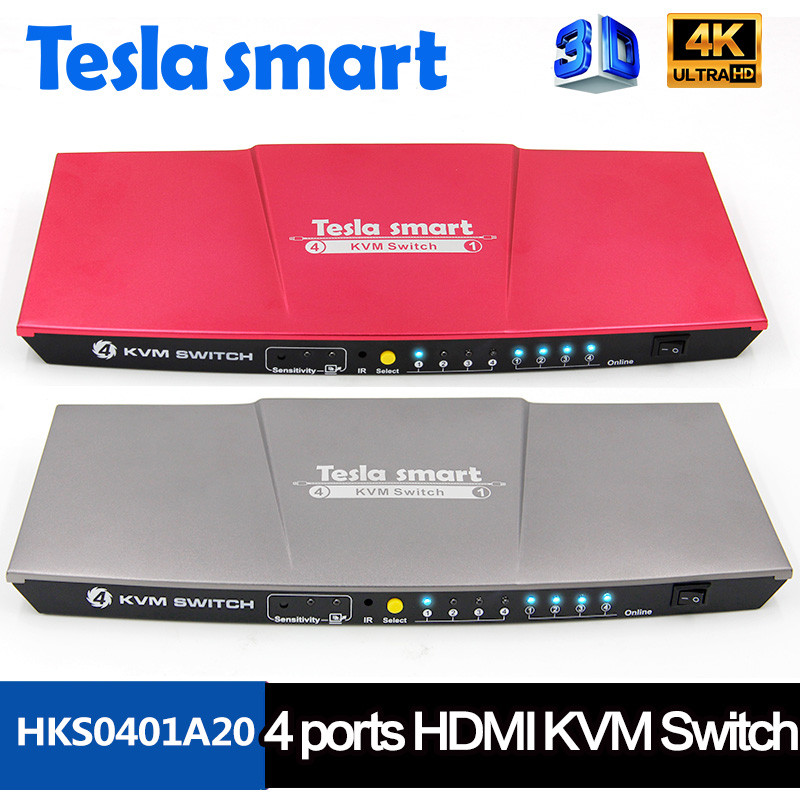 High KVM Series Speed Keyboard&Mouse HDMI USB KVM Switch 4x1