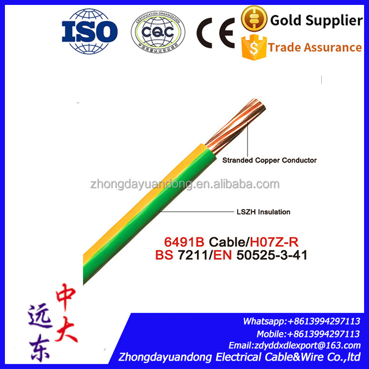 Electrical house wiring single solid stranded copper conductor PVC insulated 1.5mm 2.5mm 4mm 6mm sq electric wire