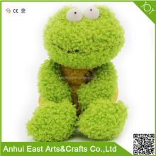 CUSTOMIZED VERY SOFT PLUSH STUFFED GREEN FROG FOR GIRL HUG OR BABY SLEEP