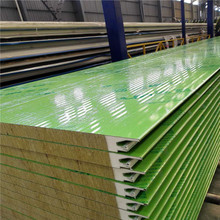 Rockwool Panels Fireproof Rock Wool Sandwich Panel Insulated Metal Panel