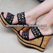 2013 NEW FASHION BEAUTIFUL WOMEN'S HIGH WEDGE HEEL SANDALS