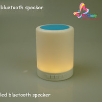 2015 hot sale desk rechargeable portable mini wireless soft bedroom table led light night reading lamp with bluetooth speaker