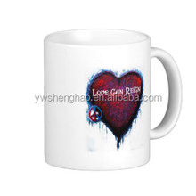 heart printed cool coffee cups