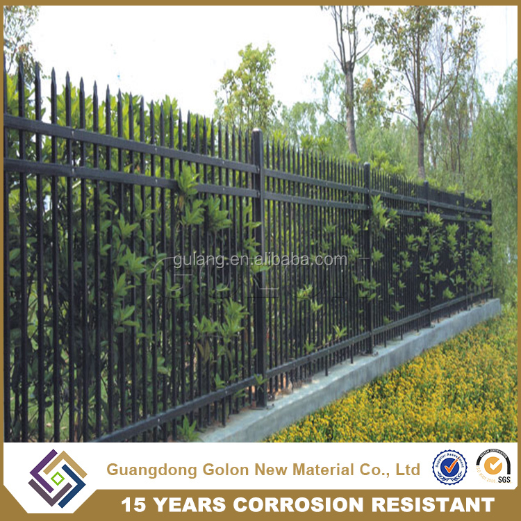Professional supplier powder coated fence steel panel, modular metal fence