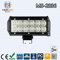 "High Performance 7"" 36W led light bar 4x4 led driving light bar ATV UTV waterproof Flood/Spot led light bar"