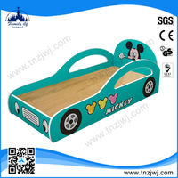 2014 Guangzhou factory prices wooden kids race car bed