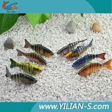 Factory-made! Popular action plastic fish treble hook 3D eyes multi sections fishjig tackle fishing lure swim bait
