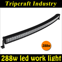 Auto Lighting System 50inch 288W Curved led truck lights