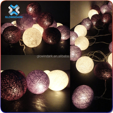 Promotional gift Christmas ball battery operated led cotton balls light