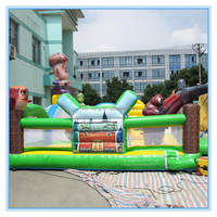 Low price high quality Boonie Bears 0.55mm PVC double stitching cheap inflatable bouncy castle for sale