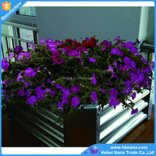 Rectangular open floor planter boxes for garden decoration / high quality steel galvanized garden bed