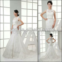 JJ3000 Newest Real sample Mermaid High Neck Dress Wedding