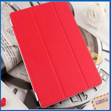 Smart Cover flip leather case for ipad 6, triple folding leather case for ipad 6