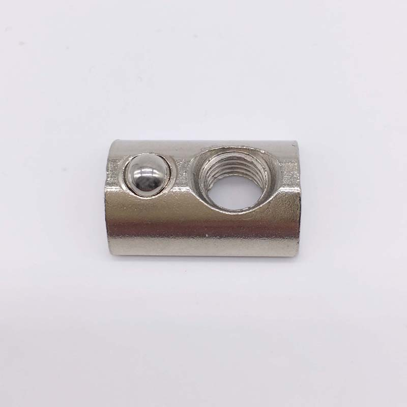 T Slot Nuts M8 Thread With Ball Spring Nut 45 Series T Slot Aluminum Extrusion 50 Pcs