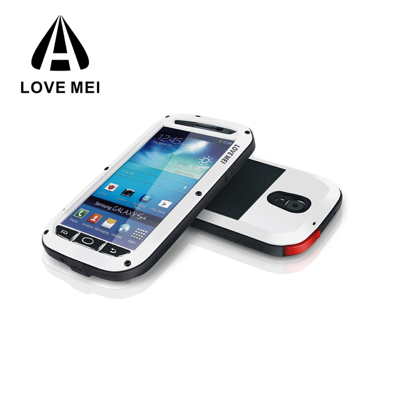 LOVE MEI Waterproof Cell Phone Cases for Samsung galaxy S4 Mobile phone cover metal case